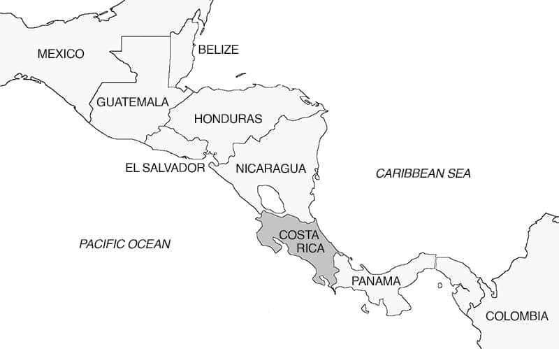 Central America Map