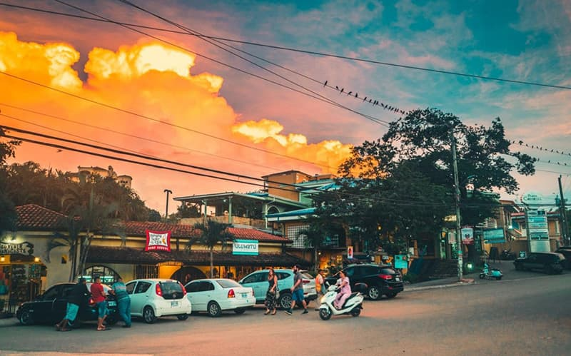 Tamarindo Costa Rica Town View Sunset