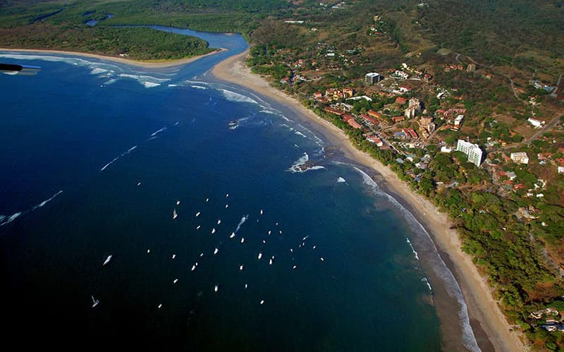 Tamarindo Costa Rica Beach Aerial view