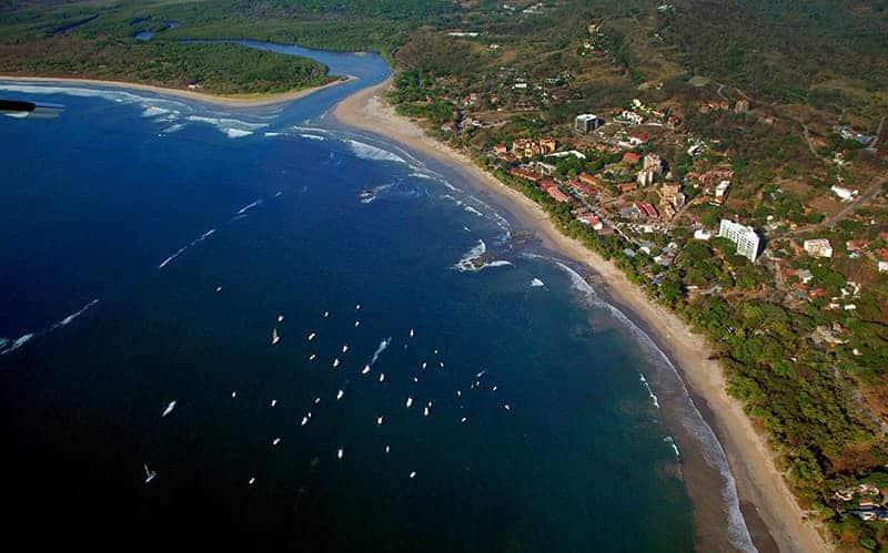 Tamarindo Costa Rica Beach Aerial view