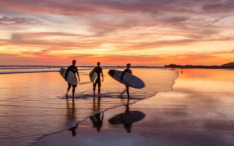 Tamarindo Costa Rica Surf Sunset